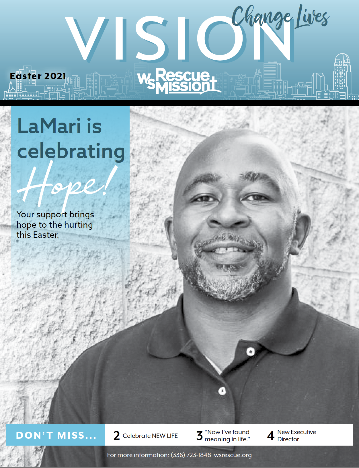 LaMari is celebrating hope this Easter at the Winston-Salem Rescue Mission