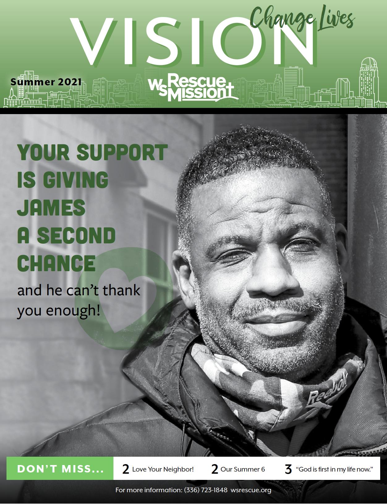 Winston-Salem Rescue Mission summer newsletter