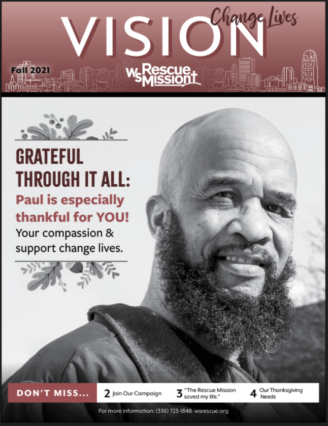 Winston-Salem Rescue Mission Fall Newsletter Cover